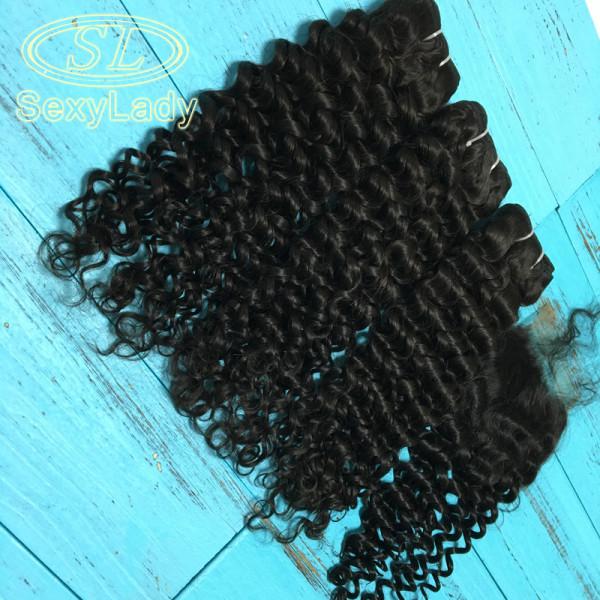 11a 3pcs+closure italy curly