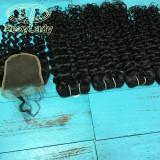 11a 4pcs+closure italy curly