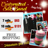 Silk band deal (in bulk print logo )