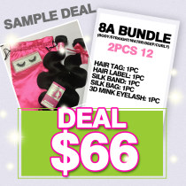 8A HAIR TWO BUNDLE SAMPLE DEAL