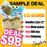 613 Blonde hair sample deal