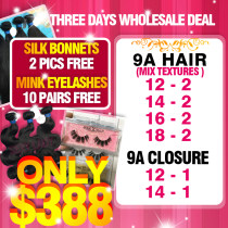 9A hair 3 days wholesale deal
