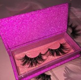 Purple Glitter Box Queen/mink eyelash