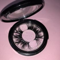 Black circle case Queen/mink eyelashes