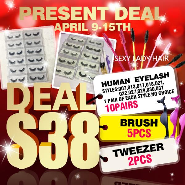 Human lashes Present DEAL