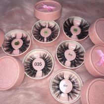 Glitter pink circle case Lashes