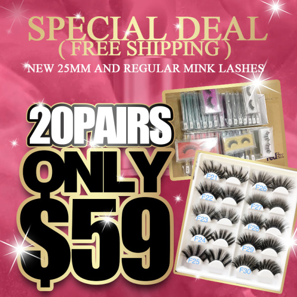Regular mink lashes 20 pairs deal