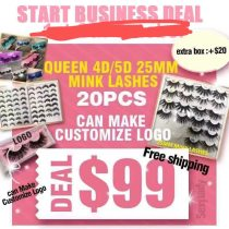 Print logo lashes deal