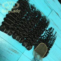 8a 3pcs+closure italy curly