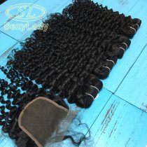 8a 4pcs+closure italy curly