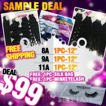 Three grade hair mix sample deal