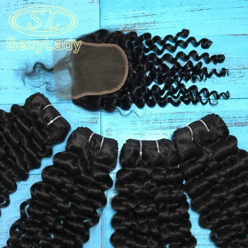 11a 4pcs+closure italy curly