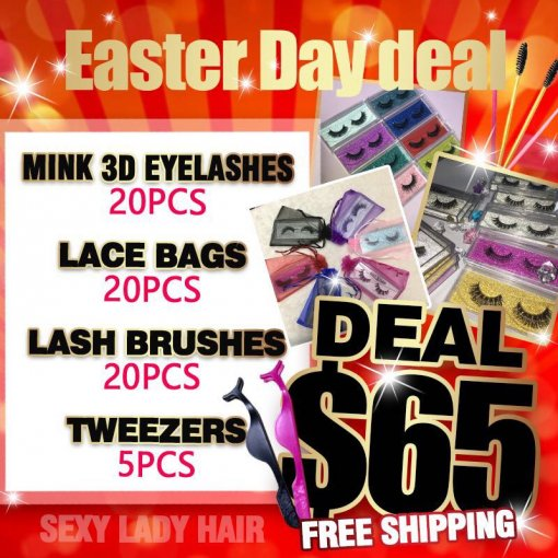 20 pairs Mink 3d lashes Sample Deal