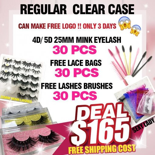 Free logo labels 25MM lashes deal for regular box