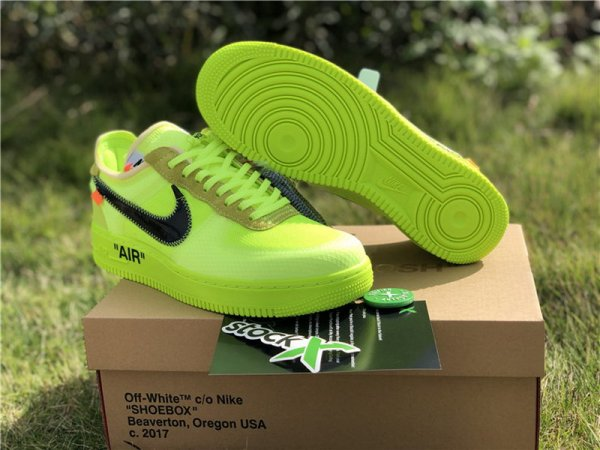 Off White X Nike Air Force One Volt