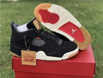 Air Jordan 4 Retro X LEVIS Black