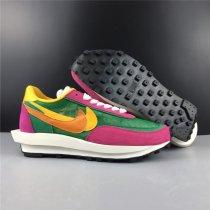 Sacai X Nike LVD Waffle Daybreak Purple Green