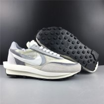 Sacai X Nike LVD Waffle Daybreak White Grey