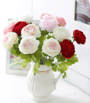 10pcs Chinese Peony Decorative Flowers False Blossom Artificial Flowers the Simulation Decor Home Big Blooms