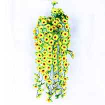 Hanging Vine Sunflower Artificial Flowers Simulation Silk Flowers for Home Decoration