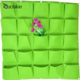 100*100cm 25 Pockets Green Vertical Garden Planter Grow Bags Wall-mounted Planting Flower Bags Vegetable Living Garden Supplies