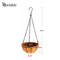 MUCIAKIE Garden Hanging Baskets Wrought Coconut Flowerpot Rattan Decorative Pots Wall Iron Garden Balcony Home Planter