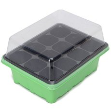 2 lots 12 Holes Seedling Tray Plates Plastic Nursery Site Seeds Sprout Tray Box Grow Box Seeds Sprout Tray Garden Tools