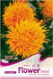 1 Original Pack, 40 seeds / pack, Safflower Carthamus Chinese Herbs Red Flower Seeds #A008