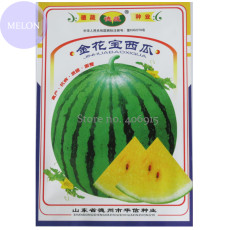 2 packs 'Jin Huabao'  Gift Yellow Watermelom, Original Pack, 70 Seeds, sweet 13% sugar contained thin skin Other410