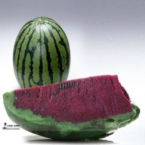 Green Skin Purple Inside Sweet Big Watermelon F1 'Wu Hei' Seeds, 1 Professional Pack, 20 Seeds / Pack, 11% Sugar Melon Fruit