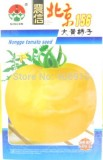 Heirloom Big Yellow Tomato 'Peking 156' Organic Seeds, Original Pack, 300 Seeds / Pack, Rare Non-gmo Vegetable Seeds E3039