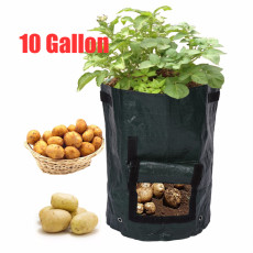 10 Gallon Woven Fabric Bags Potato Cultivation Planting Garden Pots Planters Vegetable Planting Bags Grow Bag Farm Home Garden PE Bag