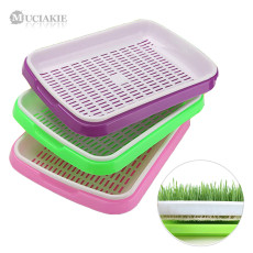 MUCIAKIE 3 Sets 2-layer Nursery Trays for Bean Sprouts Seedling Tray Dishes Wheat Seedlings Nursery Pots Home Plant Tools