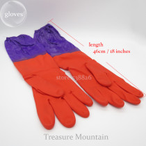 Waterproof Household New Kitchen Cleaning Dish Washing Long Large Rubber Gloves life1004 2 orders