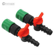 MUCIAKIE 1PC Garden Irrigation Accessory DN16 DN20 Valve with Shut Off & Quick Connector Connect Water Hose Pipe Adaptor