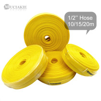 MUCIAKIE 10/15/20m 1/2'' Yellow Garden Hose Cold-resistance Compatible Water Hose Tube Lawn Pipe