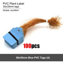 100PCS Plant Marker Labels Strip Line Hanging Tags Flexible PVC Multicolor Waterproof Garden Seedling Flower Pot Plastic Tags