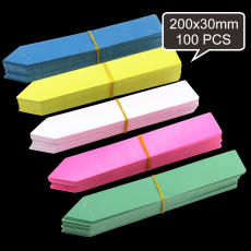 100PCS 200x30mm Flowers Plants Markers Nursery Pin Tags PVC Labels Garden Seedlings Sign Plastic 5 Colors Stake Type Ornaments