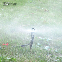 MUCIAKIE 50PCS 24CM Micro Drip Irrigation Spray Rotary Mist Sprinklers 360 Degrees on Stake Garden Watering Equipment