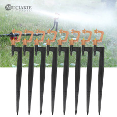 MUCIAKIE 50PCS Micro Spray 360 Degree Stake Micro Rotating Sprinklers Head Nozzle on Spike Home Garden Irrigation System Fitting