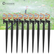 MUCIAKIE 50PCS Spray Jets on 20CM Spike 360 Degrees Rotary Sprinklers Drip Irrigation Dripper for Lawn Garden Yard