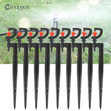 50PCS Micro Rotating Sprinklers with Spike Interchangeable Head 360 Degree Sprayers Garden Yard Lawn Greenhouse Irrigation
