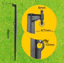 MUCIAKIE 10PCS 45CM Tall Fixed Stake for Garden Drip Irrigation Spinklers 8/11 4/7mm Hose Spike Spray Tubing Bracket Stand