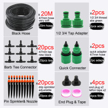 MUCIAKIE 20M Micro Drip Irrigation Garden Watering System Adjustable Automatic Kits Spray Cooling Potted Lawn Yard Tap Connecter