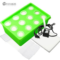 MUCIAKIE Soilless Cultivation Box Equipment 12-Hole Hydroponics Automatic Home Water Culture Seedling Planting Boxes Nursery Pot