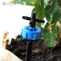 MUCIAKIE 8L Blue Arrow Drip System 4-Branch Emitter Kits Dripper for Greenhouse Bonsai Garden Irrigation Water Drop Watering Set