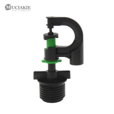MUCIAKIE 5PCS Garden Lawn Irrigation Sprinkler G1/2 Male Thread Nozzle Spray Home Garden Watering 360 Degrees Rotary Sprinklers