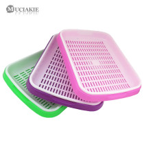 MUCIAKIE 1 LOT Bean Sprout Plate Seedlings Tray Double Layers Planting Dishes Growing Wheat Seedlings Nursery Pots Home Garden