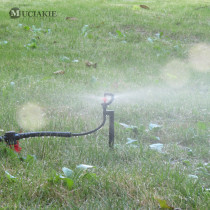 MUCIAKIE 5PCS 360 Degrees Red Drive Rotary Spray with G1/2 Male Thread Connecter Garden Nozzle Irrigation Sprinklers for Grass