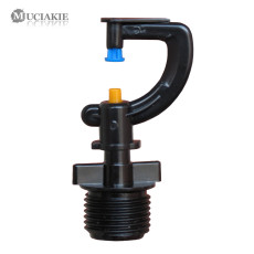 MUCIAKIE 5PCS G-typed Refracting Nozzle with 1/2'' Threaded Connecter Garden Irrigation Mist Refract Sprinkler 360 Degree Spray